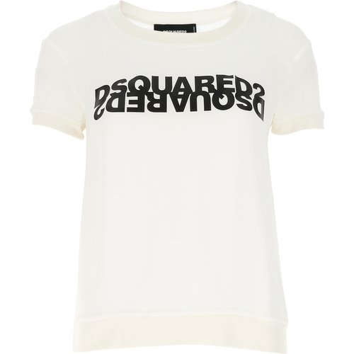 T-Shirt À COL Rond , , Taille: 38 IT - Dsquared2 - Modalova