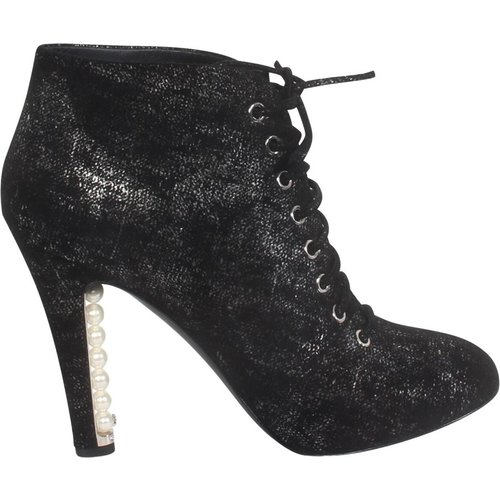 Ankle Boots With Pearls -Pre Owned Condition Excellent , , Taille: 38 1/2 - Chanel Vintage - Modalova