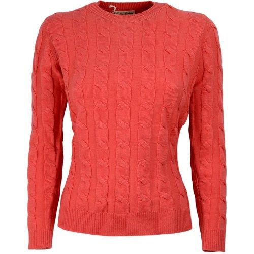 Woman Braided Sweater - Cashmere Company - Modalova