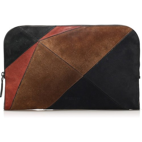 Patchwork Suede Clutch Bag - Burberry Vintage - Modalova
