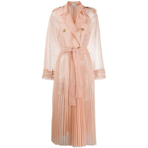 Tulle sheer trench coat , , Taille: 38 IT - RED Valentino - Modalova