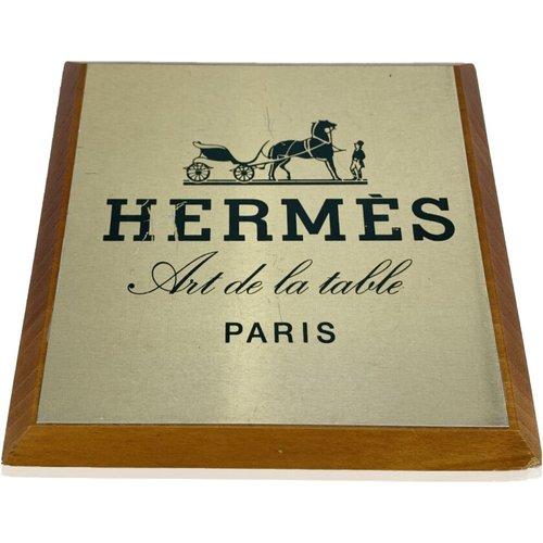 Assiette carrée Vintage Art de la Table en bois - Hermès Vintage - Modalova