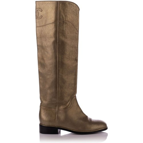 Leather High Riding Boots , , Taille: 37 - Chanel Vintage - Modalova