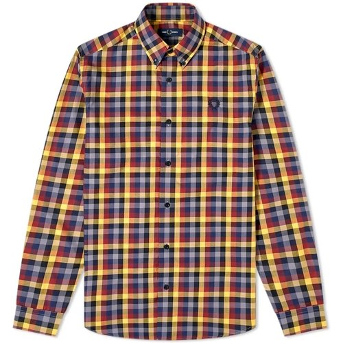 Authentic Multi Check Gingham Shirt , , Taille: L - Fred Perry - Modalova