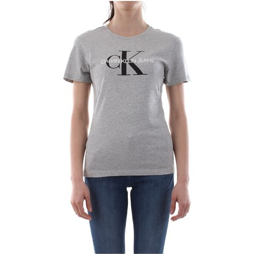 J20J207878 Core Monogram T Shirt AND Tank Women Grey Heather - Calvin Klein Jeans - Modalova