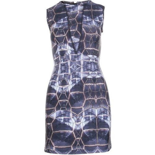 Abstract Printed Dress -Pre Owned Condition Excellent - Cynthia Rowley Vintage - Modalova