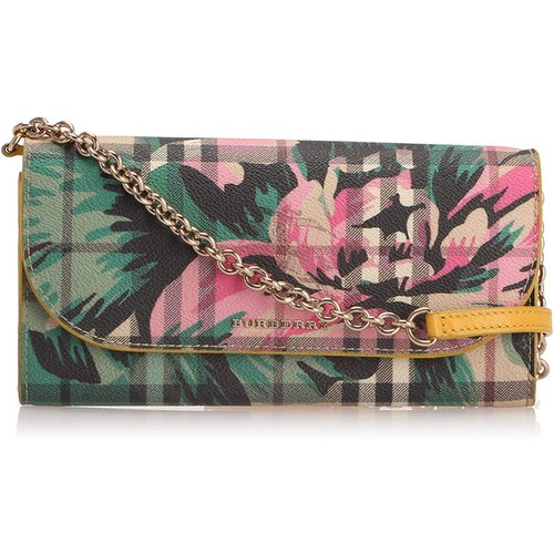 Haymarket Check Peony Rose Henley Wallet On Strap - Burberry Vintage - Modalova