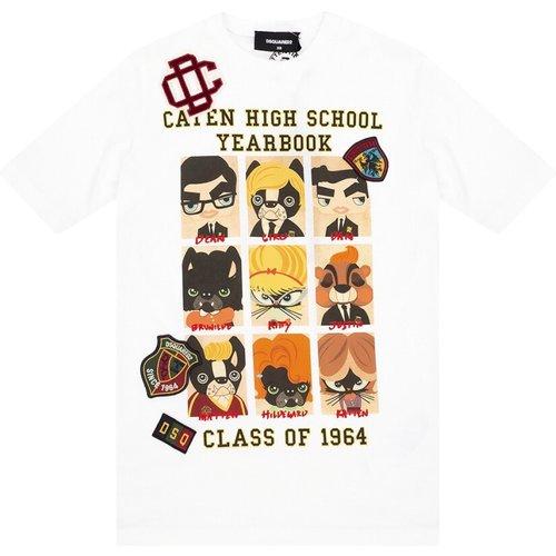 T-Shirt À COL Rond , , Taille: L - Dsquared2 - Modalova