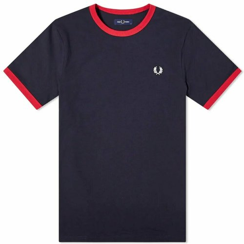 Authentic Contrast Rib Ringer T-shirt , , Taille: M - Fred Perry - Modalova