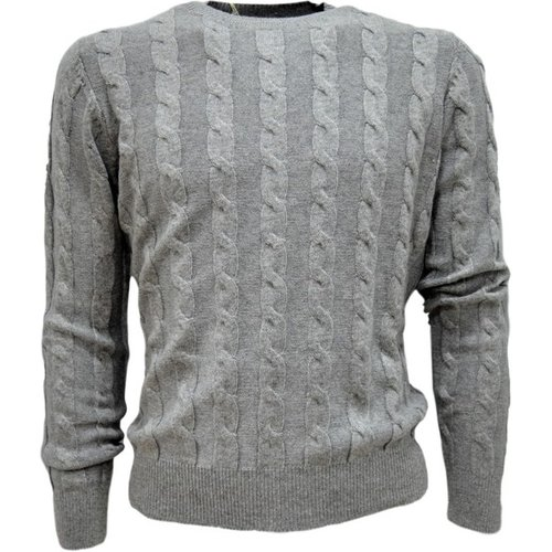 Men's Braid Sweater - Cashmere Company - Modalova