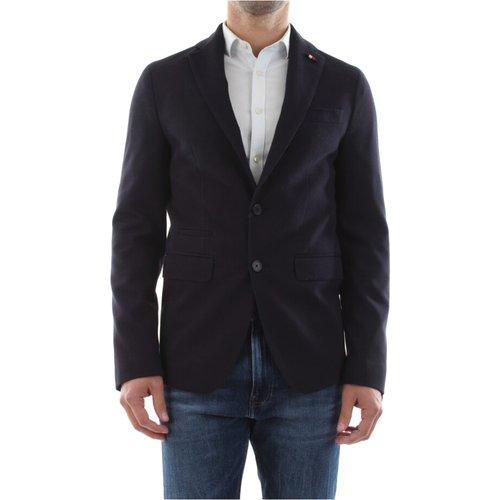 Tt0Tt06690 Jersey Flex Veste ET Blazer Classique Blu scuro - Tommy Hilfiger - Modalova