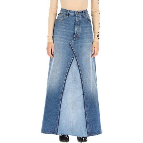 Denim long skirt , , Taille: 40 IT - Maison Margiela - Modalova