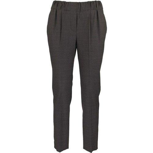Pantalon DE Jogging SUR Mesure À Rayures Brillantes Lignite - BRUNELLO CUCINELLI - Modalova