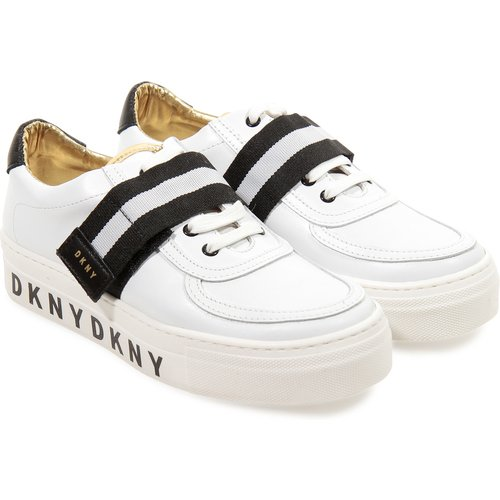 Logo detail leather sneakers Dkny - DKNY - Modalova