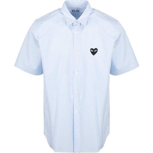 Short Sleeve Striped Shirt - Comme des Garçons Play - Modalova