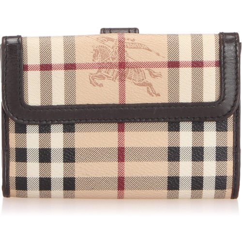 Haymarket Check Canvas Wallet - Burberry Vintage - Modalova