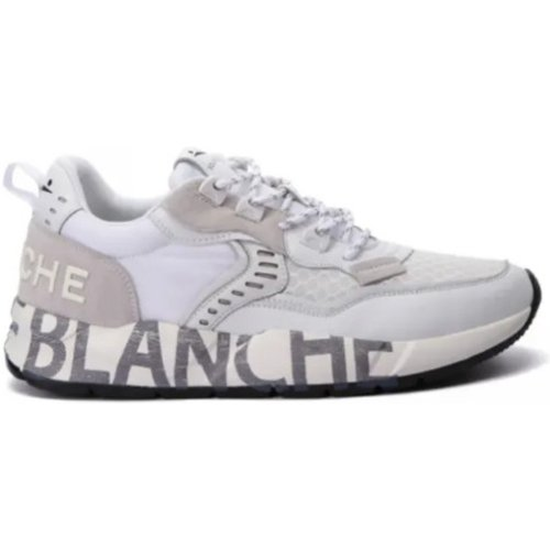 Sneakers In Leather And Nylon - Voile blanche - Modalova