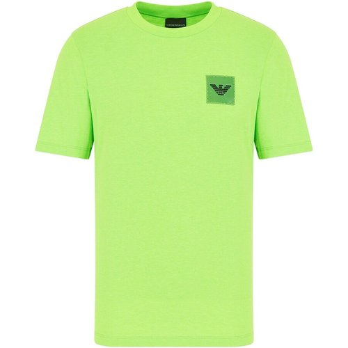 T-shirt en jersey avec écusson aigle plastifié , , Taille: M - Emporio Armani - Modalova
