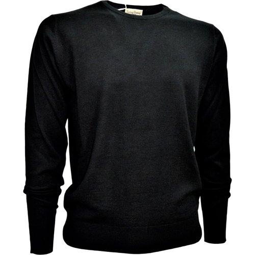 Men's Crew Neck Sweater Wool and Silk - Cashmere Company - Modalova