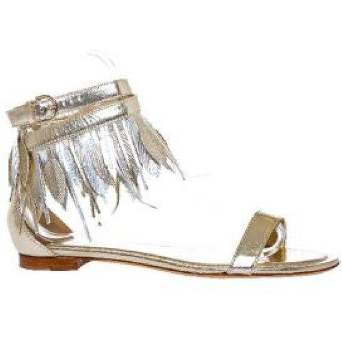 Sandales en cuir avec petites plumes - TOD'S - Modalova
