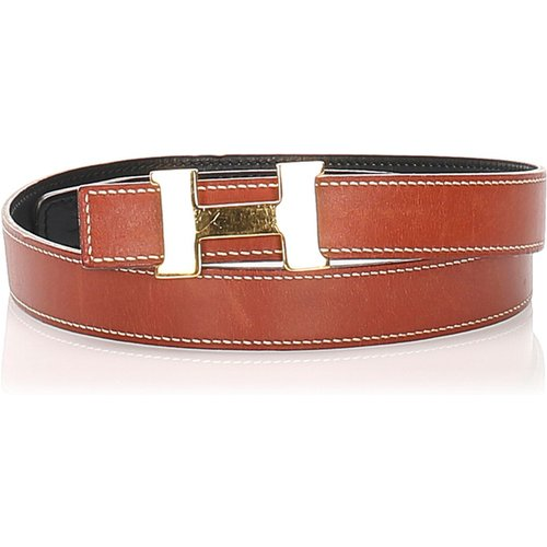 Constance Leather Belt - Hermès Vintage - Modalova