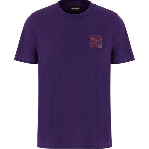 T-shirt en jersey avec écusson aigle plastifié , , Taille: L - Emporio Armani - Modalova