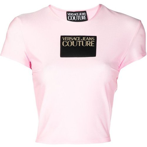 Cropped top with logo - Versace Jeans Couture - Modalova