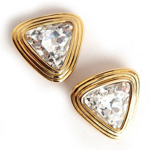 Clips d'oreilles triangulaires - Valentino Vintage - Modalova