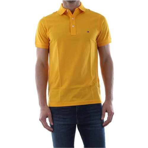 Mw0Mw09732 Slim Polo Polo Men Yellow - Tommy Hilfiger - Modalova