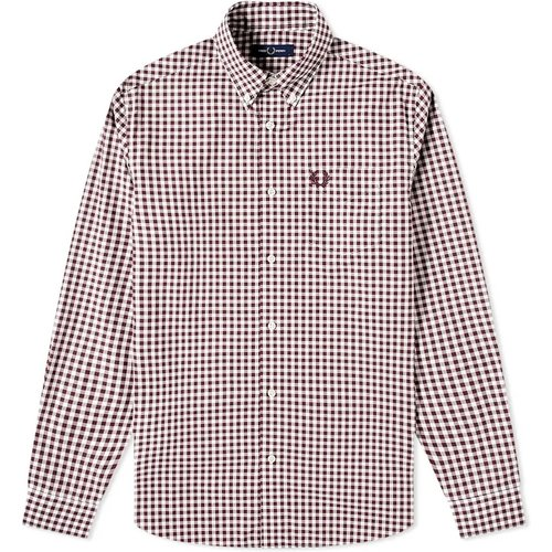 Bouton authentique Chemise vichy , , Taille: M - Fred Perry - Modalova