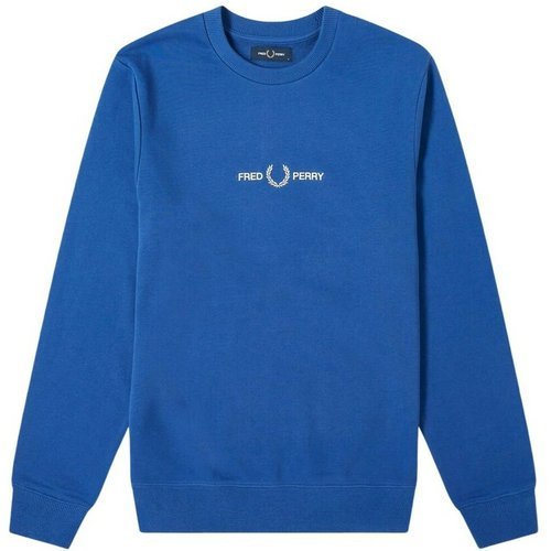 Embroidered Logo Crew Sweatshirt , , Taille: M - Fred Perry - Modalova