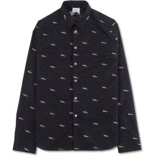 Mens Slim Fit Shirt Sharks - PS By Paul Smith - Modalova
