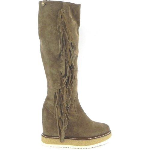 Leather Boot With Fringes Bellevie - Bellevie - Modalova