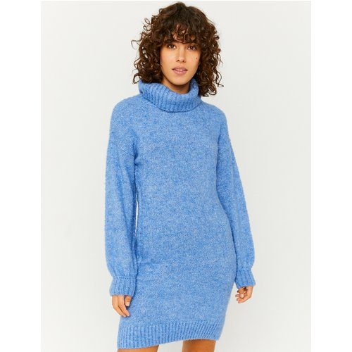 Robe en Maille Bleue - Tw - Modalova