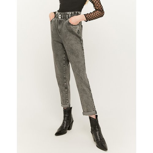 Jean Paperbag Taille Haute Gris - Tw - Modalova