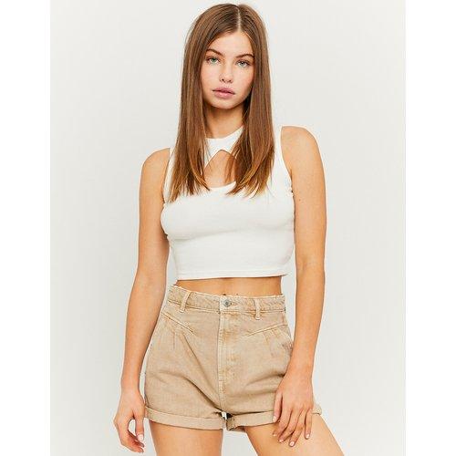 Short en Jean Plissé Slouchy Taille Haute - Tw - Modalova