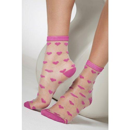 Pretty Sheer Heart Ankle Socks Années 50 en - gipsy - Modalova