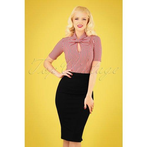 Bella Midi Skirt Années 50 en Noir - vintage chic for topvintage - Modalova