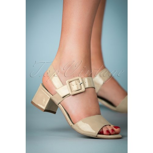 Dorothy Patent Block Heel Sandals Années 60 en - tamaris - Modalova