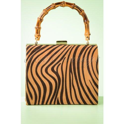 Zebra Box Bag Années 50 en et - darling divine - Modalova