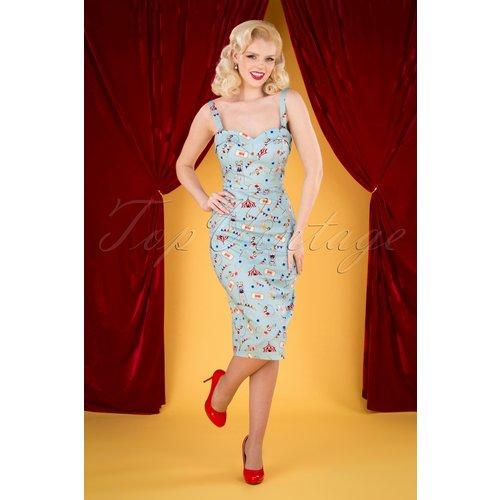 Kiana Circus Pencil Dress Années 50 en - Collectif ♥ TopVintage - Modalova