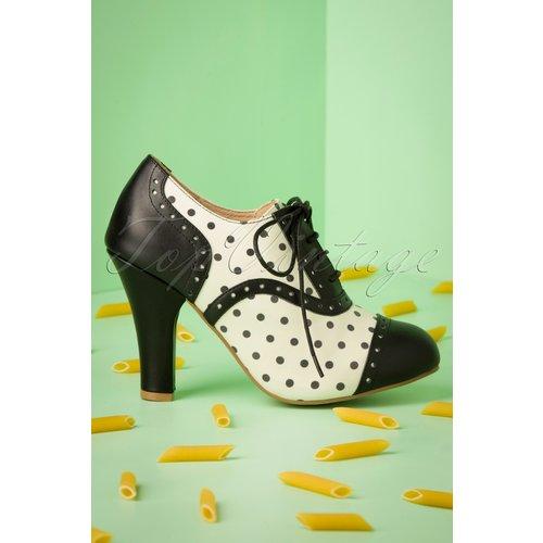 June Verona Shoe Booties Annéees 50 en et Cassé - Lola Ramona ♥ TopVintage - Modalova