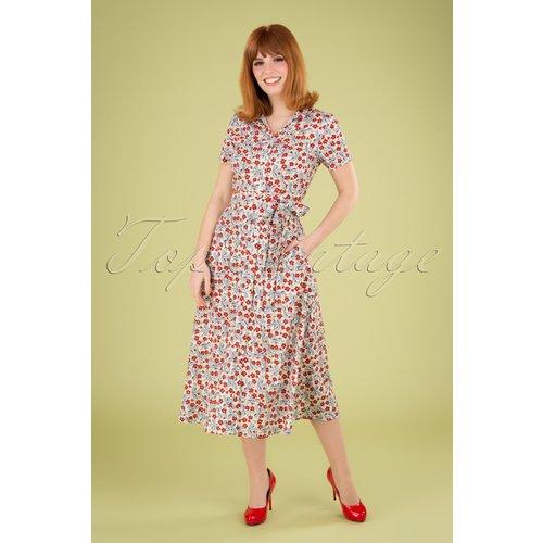 Jonie Floral Bows Dress Années 60 en - Pretty Vacant - Modalova