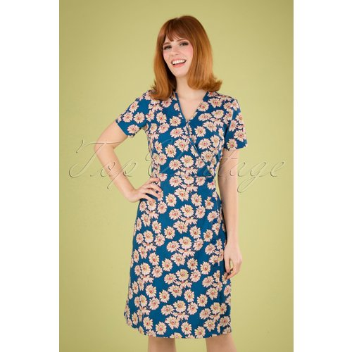 Sabrina Floral Dress Années 60 en - Pretty Vacant - Modalova