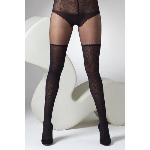 S Mock Lace Leg And Body Tights in Black - gipsy - Modalova