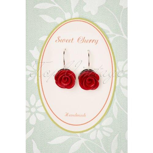 Sparkling Rose Earrings Années 50 en - sweet cherry - Modalova