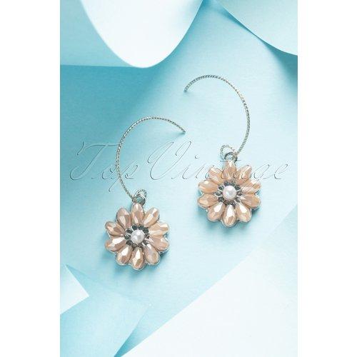Mauve Flower Pearl Earrings Années 50 en - glamfemme - Modalova