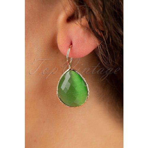 Lavina Stone Drop Earrings Années 50 en - glamfemme - Modalova