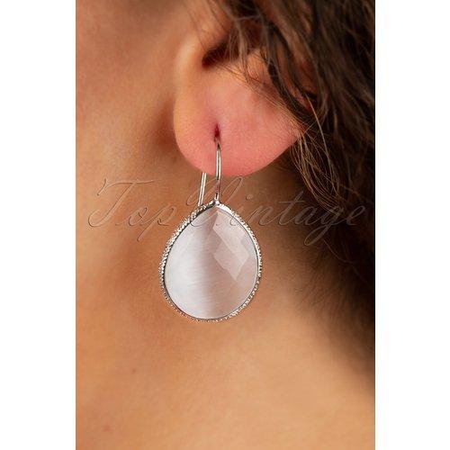 Lavina Stone Drop Earrings Années 50 en âtre - glamfemme - Modalova