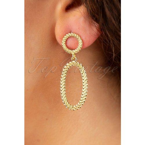 Chelsea Earrings Années 50 en Doré - glamfemme - Modalova